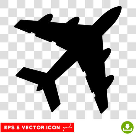 usaf: Vector Bomber EPS vector pictograph. Illustration style is flat iconic black symbol on a transparent background.