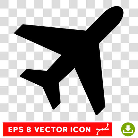 usaf: Vector Plane EPS vector pictogram. Illustration style is flat iconic black symbol on a transparent background.