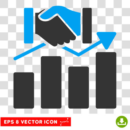 acquisition: Vector Acquisition Graph EPS vector icon. Illustration style is flat iconic bicolor blue and gray symbol on a transparent background.