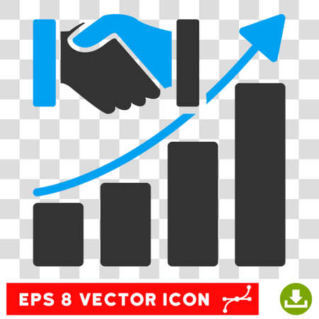 acquisition: Vector Acquisition Growth EPS vector icon. Illustration style is flat iconic bicolor blue and gray symbol on a transparent background.