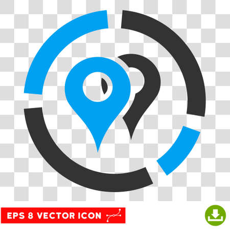 geo: Vector Geo Diagram EPS vector pictograph. Illustration style is flat iconic bicolor blue and gray symbol on a transparent background.