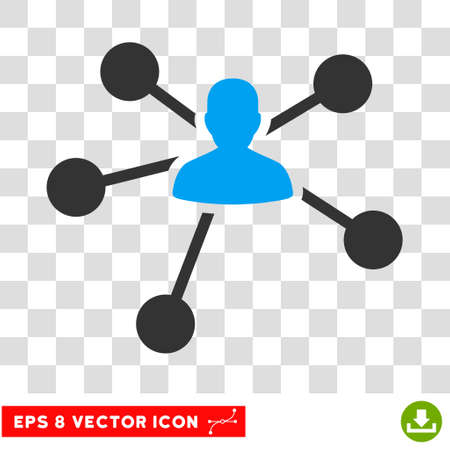 Vector Relations EPS vector pictograph. Illustration style is flat iconic bicolor blue and gray symbol on a transparent background. Illustration