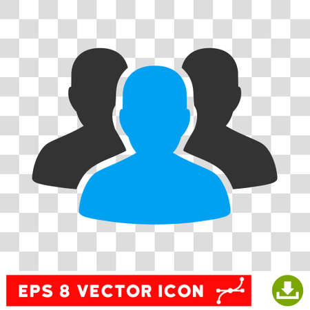 Vector User Group EPS vector icon. Illustration style is flat iconic bicolor blue and gray symbol on a transparent background. Illustration