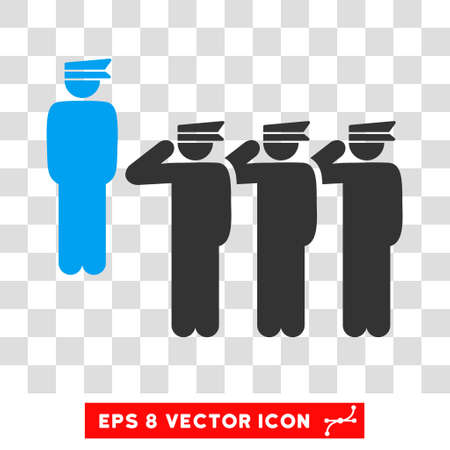 squad: Vector Army Squad EPS vector pictogram. Illustration style is flat iconic bicolor blue and gray symbol on a transparent background. Illustration