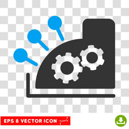 Vector Cash Register EPS vector pictograph. Illustration style is flat iconic bicolor blue and gray symbol on a transparent background.