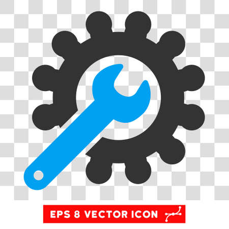 Vector Customization EPS vector pictograph. Illustration style is flat iconic bicolor blue and gray symbol on a transparent background. Illustration