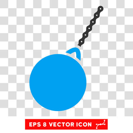 Vector Destruction Hammer EPS vector pictograph. Illustration style is flat iconic bicolor blue and gray symbol on a transparent background. Illustration
