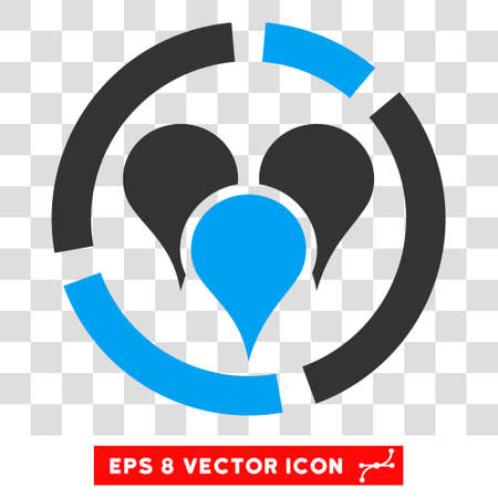 geo: Vector Geo Diagram EPS vector icon. Illustration style is flat iconic bicolor blue and gray symbol on a transparent background.