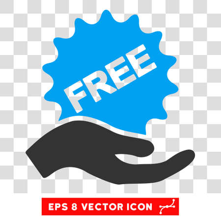 eps vector icon: Vector Free Present EPS vector icon. Illustration style is flat iconic bicolor blue and gray symbol on a transparent background.