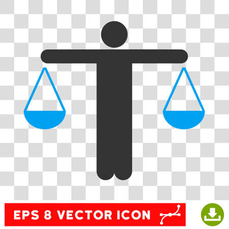 femida: Vector Lawyer EPS vector pictograph. Illustration style is flat iconic bicolor blue and gray symbol on a transparent background.