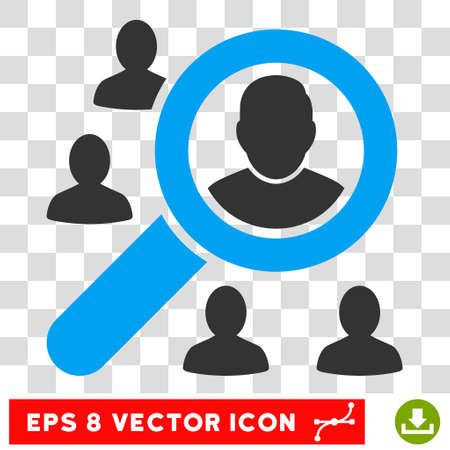 lookup: Vector Marketing EPS vector pictograph. Illustration style is flat iconic bicolor blue and gray symbol on a transparent background. Illustration