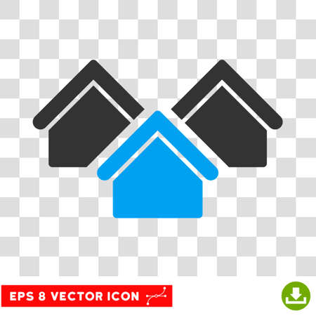 the settlement: Vector Real Estate EPS vector pictogram. Illustration style is flat iconic bicolor blue and gray symbol on a transparent background.