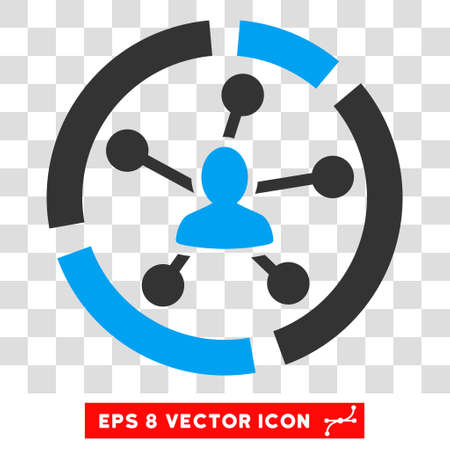 eps vector icon: Vector Relations Diagram EPS vector icon. Illustration style is flat iconic bicolor blue and gray symbol on a transparent background. Illustration