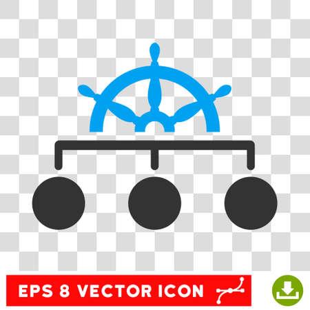 Vector Regel EPS vector icon. Illustratie stijl is vlak iconische bicolor blauw en grijs symbool op een transparante achtergrond. Stockfoto - 63687157