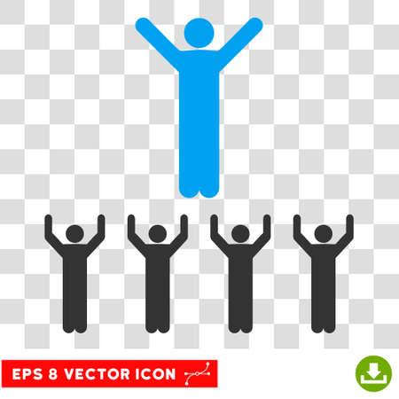Vector Religion EPS vector pictogram. Illustration style is flat iconic bicolor blue and gray symbol on a transparent background. Ilustração