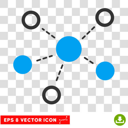 subsidiary: Vector Virtual Links EPS vector pictogram. Illustration style is flat iconic bicolor blue and gray symbol on a transparent background. Illustration
