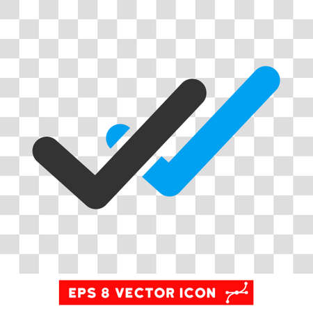 validation: Vector Validation EPS vector pictograph. Illustration style is flat iconic bicolor blue and gray symbol on a transparent background.