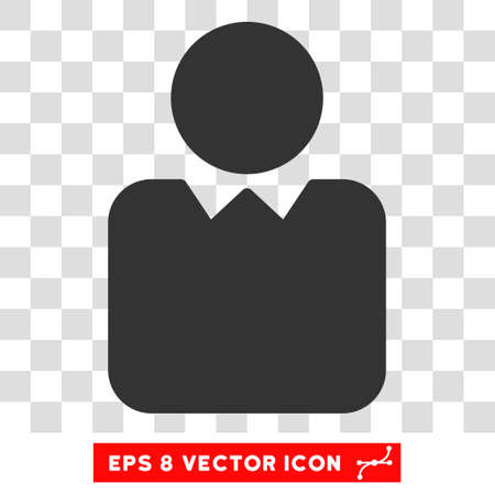 persona: Vector Client EPS vector icon. Illustration style is flat iconic gray symbol on a transparent background.