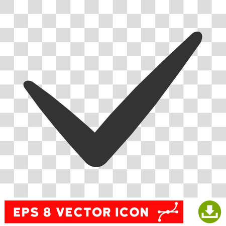 valid: Vector Valid EPS vector pictogram. Illustration style is flat iconic gray symbol on a transparent background.