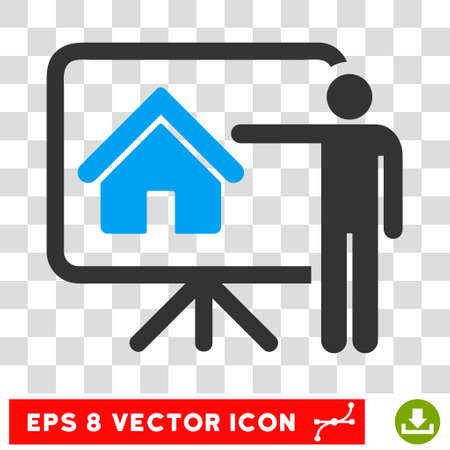 realtor: Vector Realtor EPS vector icon. Illustration style is flat iconic bicolor blue and gray symbol on a transparent background.