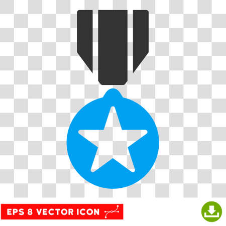 eps vector icon: Vector Army Award EPS vector icon. Illustration style is flat iconic bicolor blue and gray symbol on a transparent background.