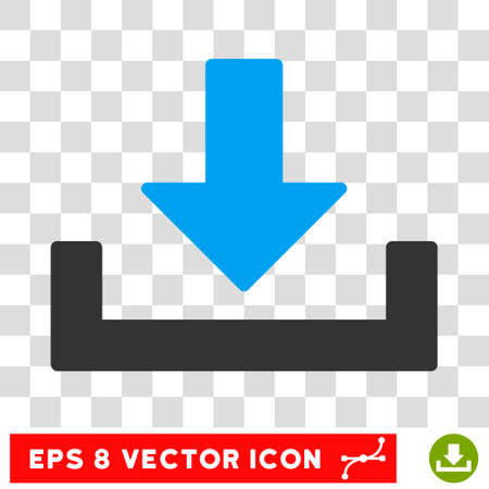 vector download: Vector Download EPS vector icon. Illustration style is flat iconic bicolor blue and gray symbol on a transparent background. Illustration