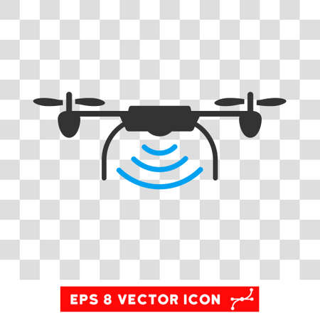 Vector Radio Transmitter Drone EPS Pictogram Illustration Style Is Flat Iconic Bicolor Blue And