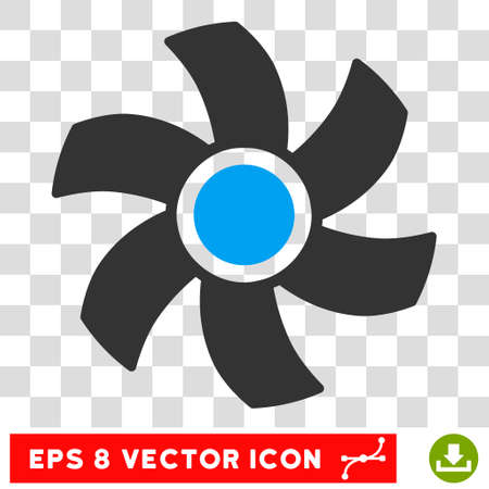 rotor: Vector Rotor EPS vector pictogram. Illustration style is flat iconic bicolor blue and gray symbol on a transparent background.