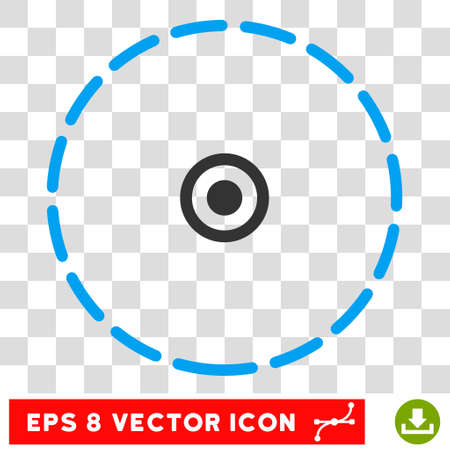 zonal: Vector Round Area EPS vector pictograph. Illustration style is flat iconic bicolor blue and gray symbol on a transparent background. Illustration