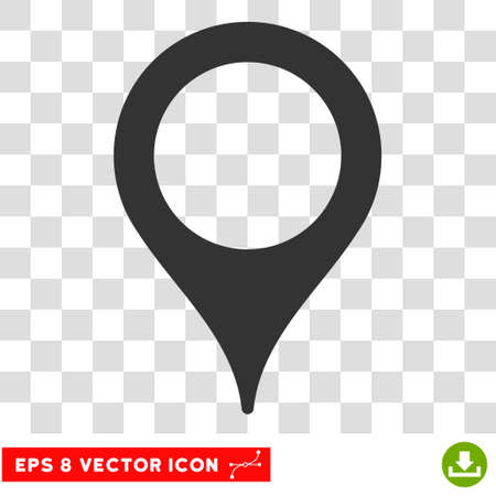 Vector Map Pointer EPS vector icon. Illustration style is flat iconic gray symbol on a transparent background.
