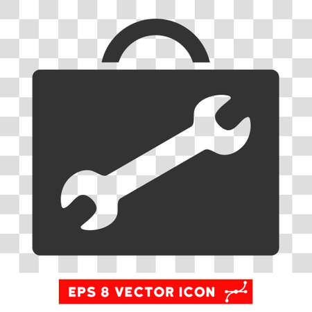 eps vector icon: Vector Repair Equipment EPS vector icon. Illustration style is flat iconic gray symbol on a transparent background. Illustration