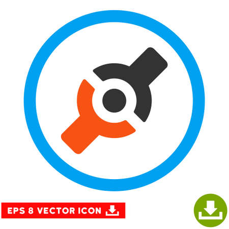 eps vector icon: Rounded Artificial Joint EPS vector icon. Illustration style is flat icon symbol inside a blue circle.