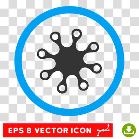 idler: Rounded Axenic EPS vector pictograph. Illustration style is flat icon symbol inside a blue circle.