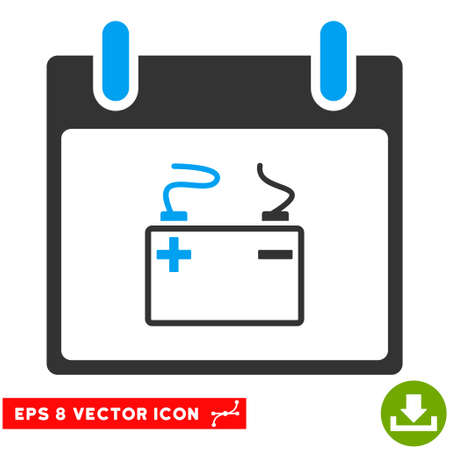 accumulator: Accumulator Calendar Day icon. Vector EPS illustration style is flat iconic bicolor symbol, blue and gray colors.
