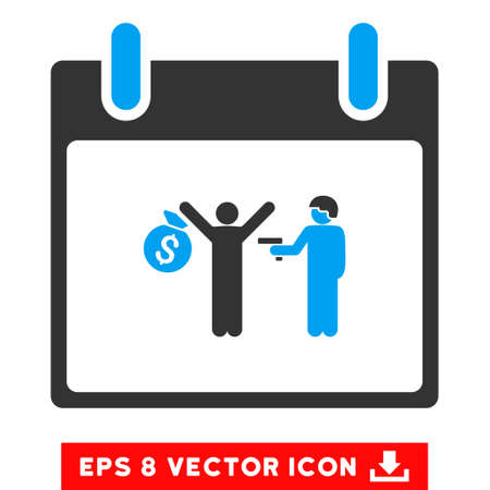 arrest: Arrest Calendar Day icon. Vector EPS illustration style is flat iconic bicolor symbol, blue and gray colors.