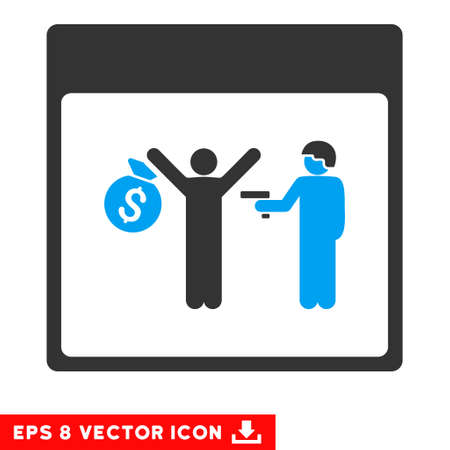 arrest: Arrest Calendar Page icon. Vector EPS illustration style is flat iconic bicolor symbol, blue and gray colors.