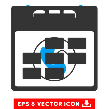 september calendar: September Calendar Grid icon. Vector EPS illustration style is flat iconic bicolor symbol, blue and gray colors.