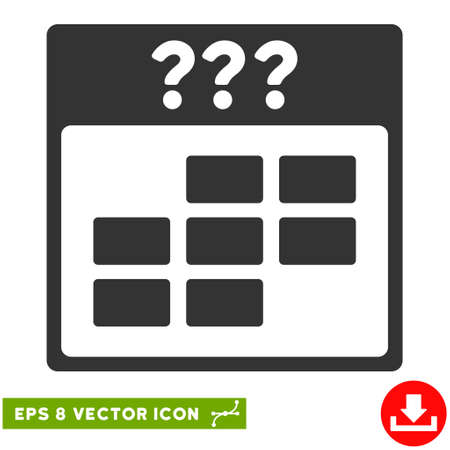 unknown: Unknown Month Calendar Grid icon. Vector EPS illustration style is flat iconic symbol, gray color.