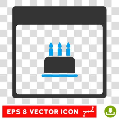 Birthday Cake Calendar Page Pictograph With Bonus Configuration