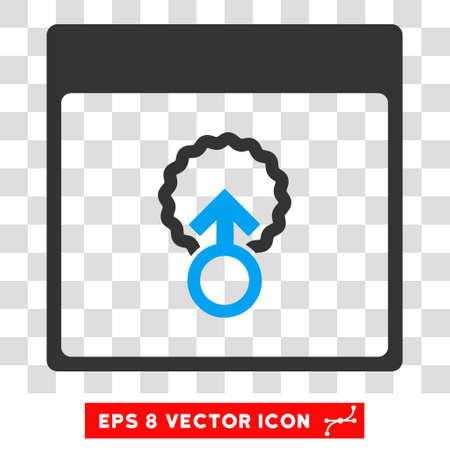 penetracion: Vector Cell Penetration Calendar Page EPS vector pictogram. Illustration style is flat iconic bicolor blue and gray symbol on a transparent background. Vectores