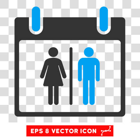water closet: Vector Water Closet Calendar Day EPS vector pictograph. Illustration style is flat iconic bicolor blue and gray symbol on a transparent background.