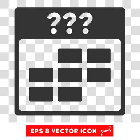 unknown: Vector Unknown Month Calendar Grid EPS vector pictogram. Illustration style is flat iconic gray symbol on a transparent background.