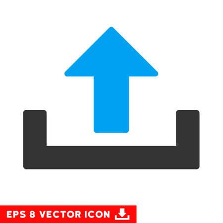 Upload EPS vector icon. Illustration style is flat iconic bicolor blue and gray symbol on white background. Illustration