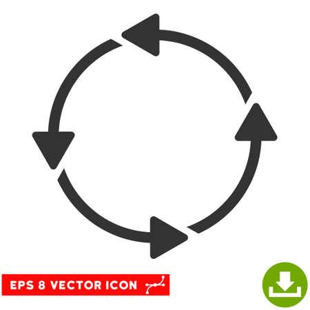 Rotation CCW EPS vector icon. Illustration style is flat iconic gray symbol on white background. Illustration