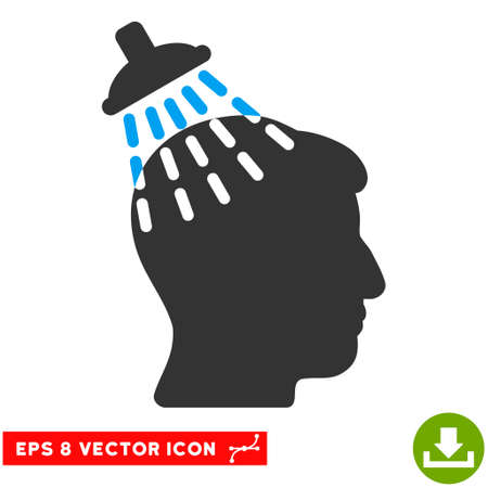 eps vector icon: Head Shower EPS vector icon. Illustration style is flat iconic bicolor blue and gray symbol on white background. Illustration