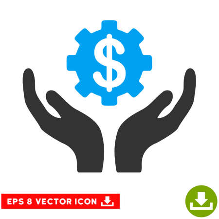 eps vector icon: Maintenance Price EPS vector icon. Illustration style is flat iconic bicolor blue and gray symbol on white background. Illustration