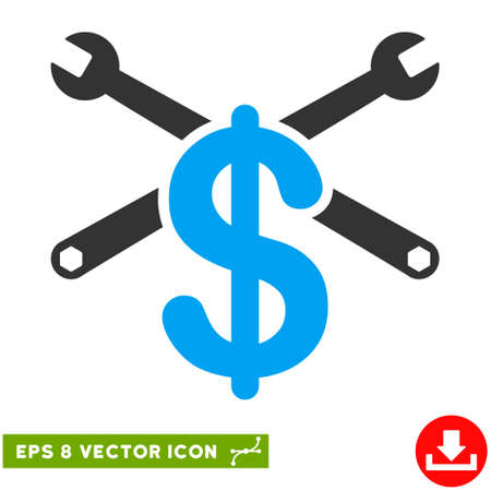 eps vector icon: Service Price EPS vector icon. Illustration style is flat iconic bicolor blue and gray symbol on white background.