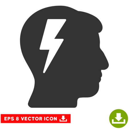 Brainstorming EPS vector pictogram. Illustration style is flat iconic gray symbol on white background.