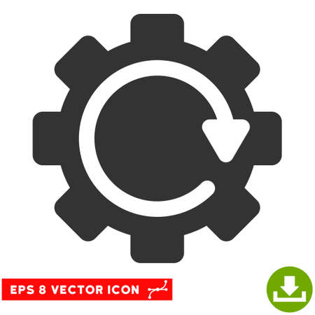 eps vector icon: Gear Rotation Direction EPS vector icon. Illustration style is flat iconic gray symbol on white background.