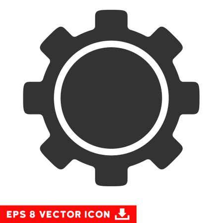 eps vector icon: Gear EPS vector icon. Illustration style is flat iconic gray symbol on white background. Illustration